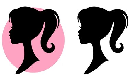 barbie silhouette coloring page barbie silhouette clipart clipart suggest