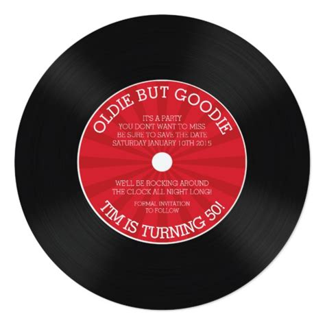 Retro Vinyl Record Birthday Party Invitation Zazzle Com Vinyl Record Invitation Template