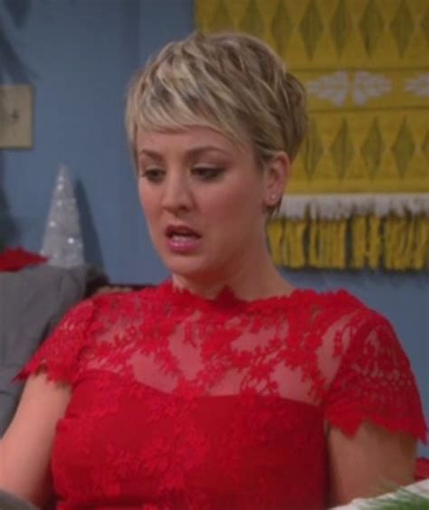 short hair penny on cbs dress big bang theory kaley cuoco wheretoget