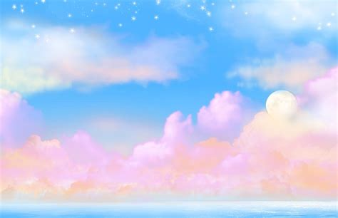wallpaper awan pink cottoncandy moonrise wallpaper and background 1280x829