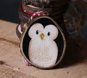 penguin hand painted wood slice ornament by our backyard