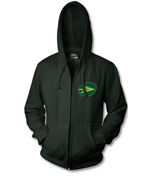 Hoodie Arrow Logo zip up pullover green arrow hoodie