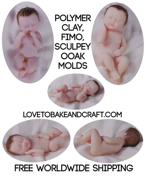 doll molds polymer clay doll moulds baby doll molds polymer doll mold
