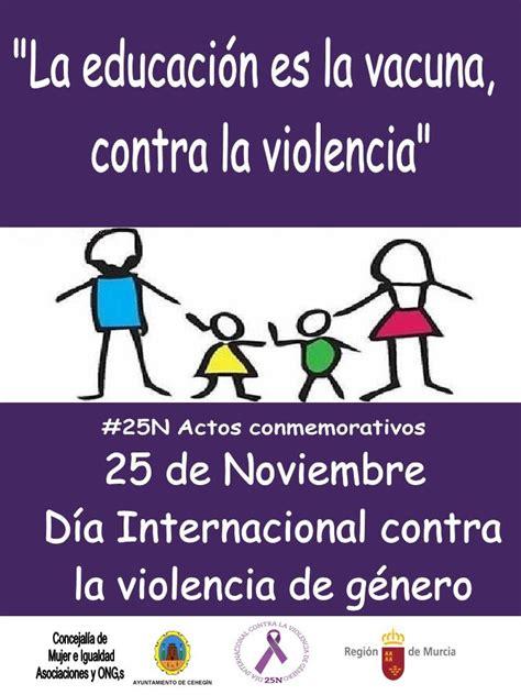 imagenes dia mundial contra la violencia de genero mujer e igualdad organiza varios actos para conmemorar el