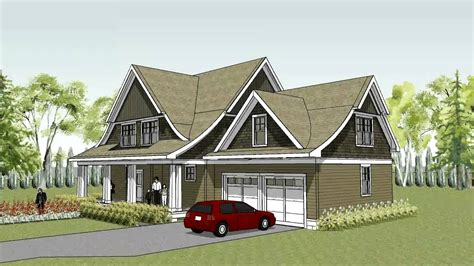 unique cape cod house plan with curved roof line the