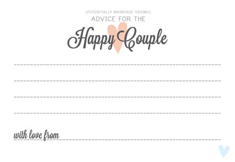 Advice For And Groom Cards Template by 25 Images Of Prbaby Advise And Card Template Geldfritz Net