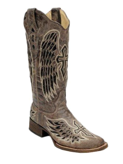 cheap corral boots s corral brown black wing cross sequence boots