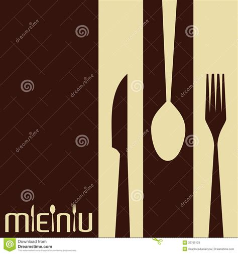Kitchen Design Layout Template template for menu card with cutlery stock photos image