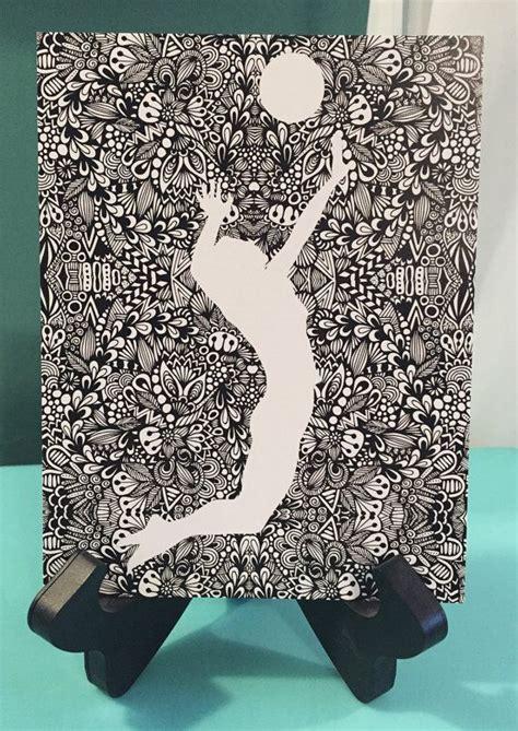 zentangle spike mandala design art tangle art mirror