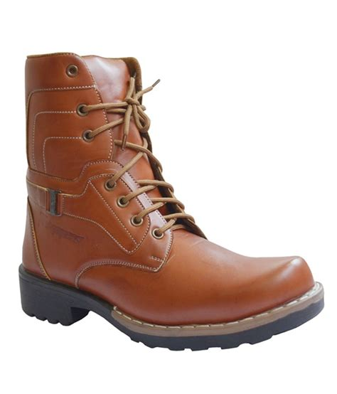 trigger calf length boots brown price in india buy