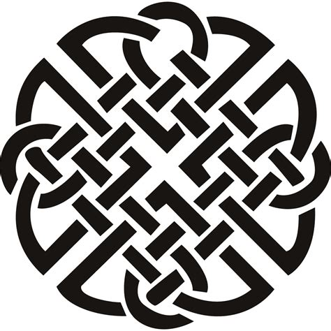 celtic knot clipart traditional pencil and in color