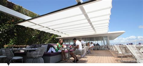 retractable awning michigan retractable awning system enfold by uni systems base