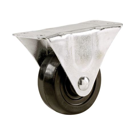 shepherd 3 in soft rubber rigid caster with 175 lb load