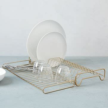 wire kitchen collection foldable dish rack west elm