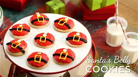 santa belly cookies youtube