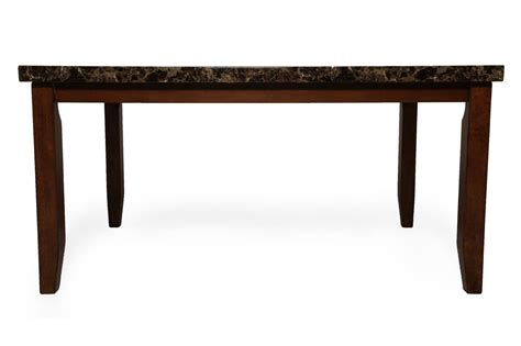 Contemporary Rectangular Dining Table Contemporary 60 Quot Rectangular Dining Table In Brown Mathis Brothers Furniture