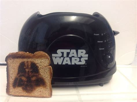 star wars toaster darth vader face imprint st toast