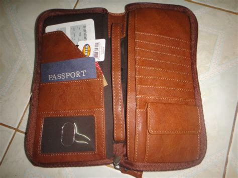 Fossil Plaid Passport Wallet New With Tag bnwt fossil passport travel wallet original authentic