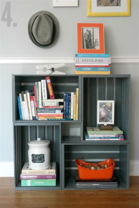 how to make a bookshelf milk crate furniture milk