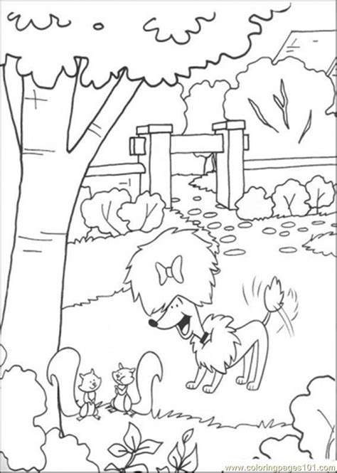 disegni di giardini cleo plays in the garden coloring page free clifford the