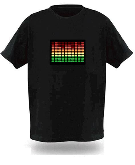 sound activated light up shirts sound activated electronic light up graphic equalizer