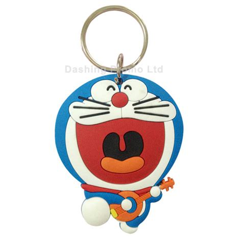 doraemon rubber keychain dashing promo ltd