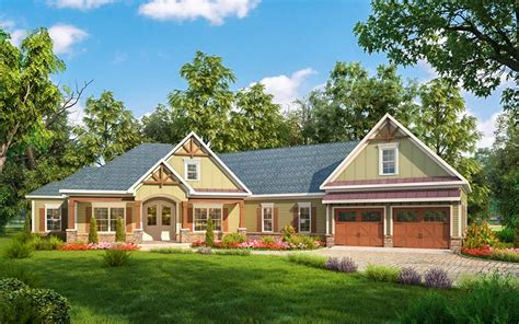 home disain craftsman house plan with angled garage 36032dk architectural designs house plans