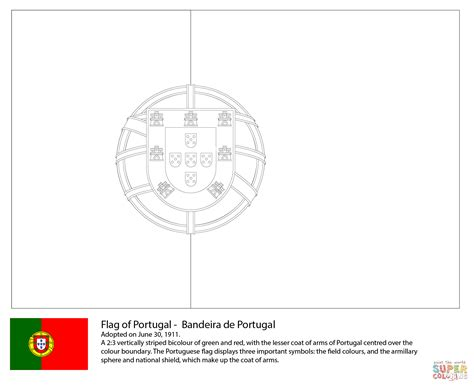 Nepal Flag Coloring Page Printable Image Portugal Flag Coloring Page