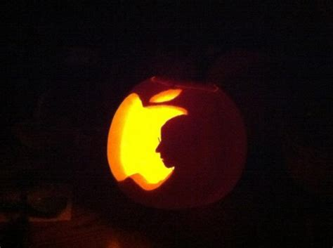 apple themed pumpkin carvings spice  halloween mac rumors