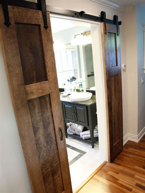 bathroom barn doors split barn door home design ideas pictures remodel and decor