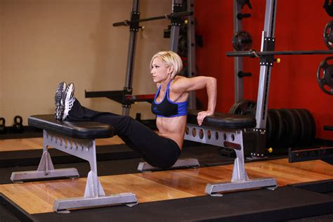 dips between benches bench dips exercise guide and video