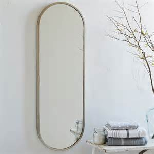 metal oval floor mirror modern wall mirrors by westelm com au