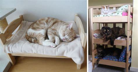 ikea doll bed japanese cat owners re purposed ikea s doll beds for cats