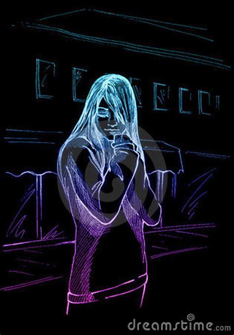 St Emzo Kid Gmb sad kid neon stock images image 6573274