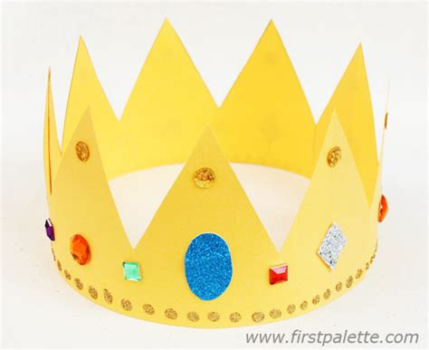 How To Make A Paper Crown Tiara - paper crown craft crafts firstpalette