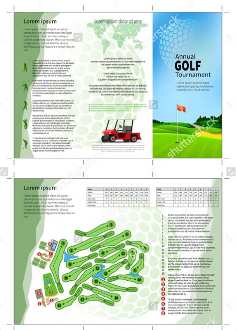 Golf Tournament Brochure 20 Download In Vector Eps Psd Golf Design Template