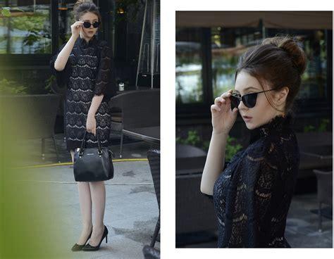 Fasiha Shoes Hellena Sonja helena ivanova style moi http www stylemoi nu high neck lace dress with bell sleeves html