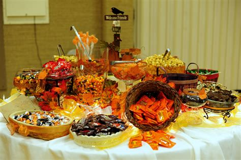 leafy tree tops fall autumn themed candy buffet the sequel