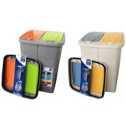 poubelle de tri s 233 lectif cuisine 2 compartiments 2 x 22 5