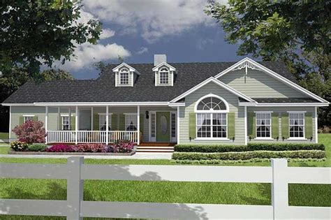 ranch style house with wrap around porch single story ranch style house plans with wrap around