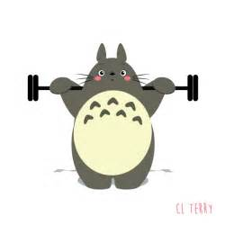 Funny animated gifs of totoro making fitness 6 funny animated gifs of