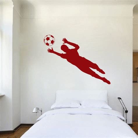 soccer decals for bedroom soccer goalie wall decal sticker sport murals trendy