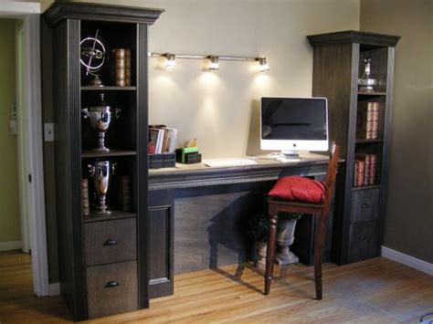 filing cabinet desk combo how to build a shelving tower a filing cabinet hgtv