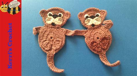 felt otter pattern crochet tutorial crochet sea otter youtube