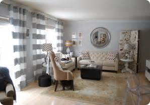 Gray And White Striped Curtains Horizontal Striped Curtains They Re Painted Wall Color Picture Collage White And Aqua