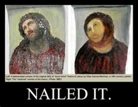 Monkey Jesus Meme - the lady who destroyed the jesus fresco now wants to get