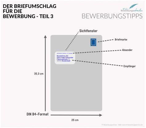 Adressaufkleber Auf Briefumschlag by Bewerbung Briefumschlag Versandtasche Tipps