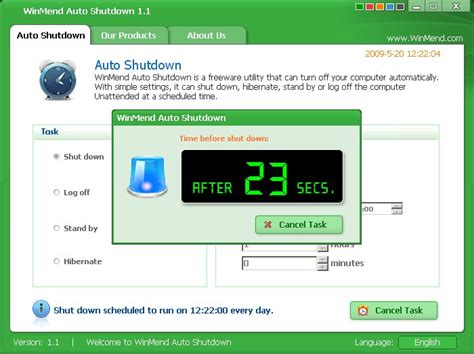Auto Shutdown Windows 7 by Winmend Auto Shutdown 2 2 0 Free Download Software
