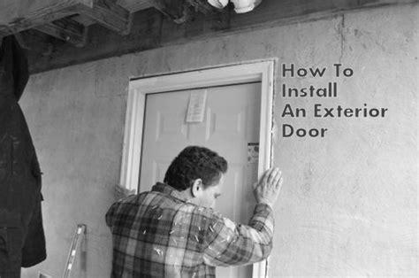 install  replace  exterior door