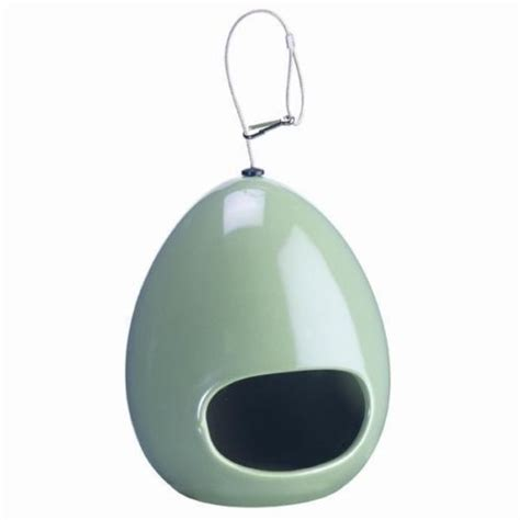 care ceramic egg new gardman glazed egg shaped ceramic bird feeder garden